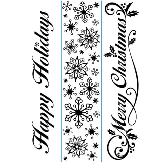 "Embossing Folder Borders 1.5""X5.75"" 3/Pkg-Seasonal"