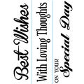 "Embossing Folder Borders 1.5""X5.75"" 3/Pkg-Just Because Phrases"