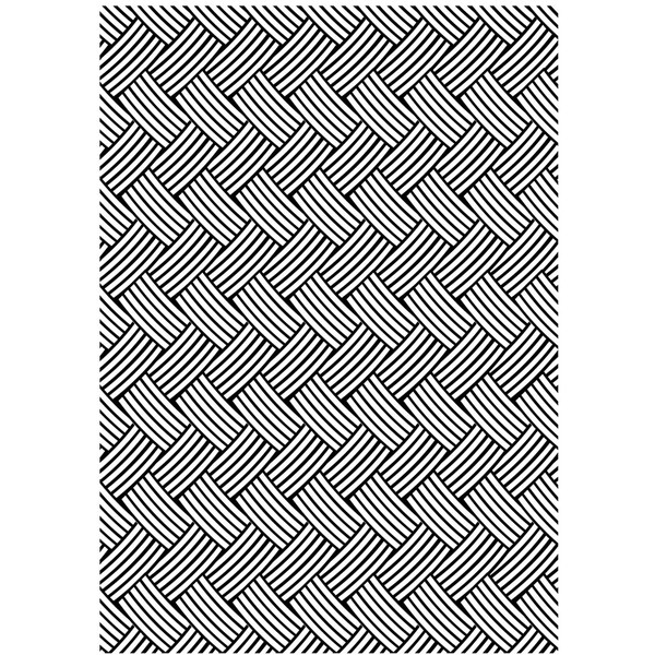 "Embossing Folder Background 5""X7""-Basketweave"