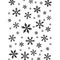 "Embossing Folder Background 5""X7""-Snowflake"