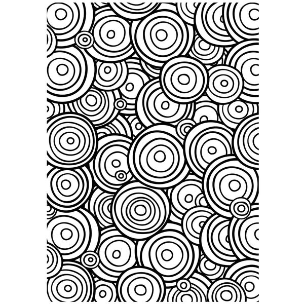 "Embossing Folder Background 5""X7""-Circle In Circle"