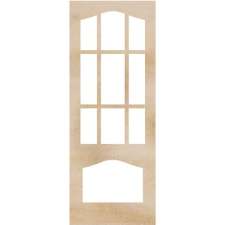 "Wood Flourishes-Decorative Door Frames 4""X10.25"" 2/Pkg"