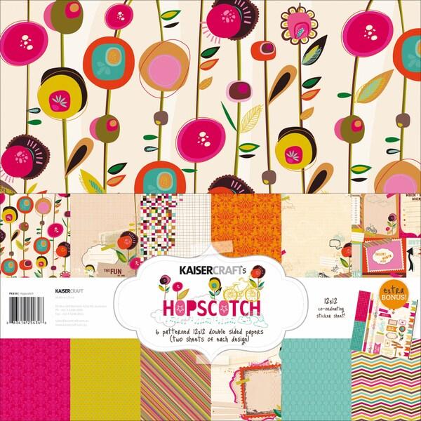 "Hopscotch Paper Pack 12""X12""-"