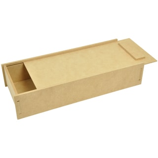 "Beyond The Page MDF Pencil Box With Slide Lid-14.5""X3""X6"" (370x75x155mm)"