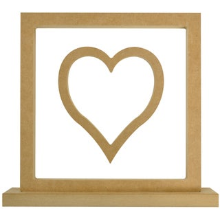 "Beyond The Page MDF Heart Frame-11.5""X10.5""X2"" (290x265x50mm)"