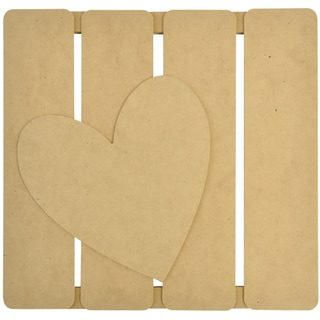 "Beyond The Page MDF Heart 3-D Wall Art-11.5""X11.25""X.5"" (290x285x15mm)"