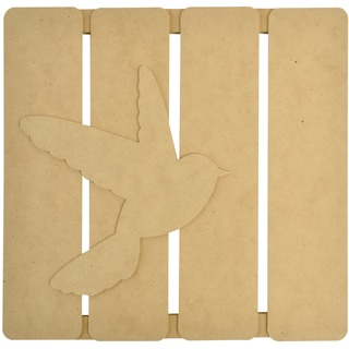 "Beyond The Page MDF Bird 3-D Wall Art-11.5""X11.25""X.5"" (290x285x15mm)"
