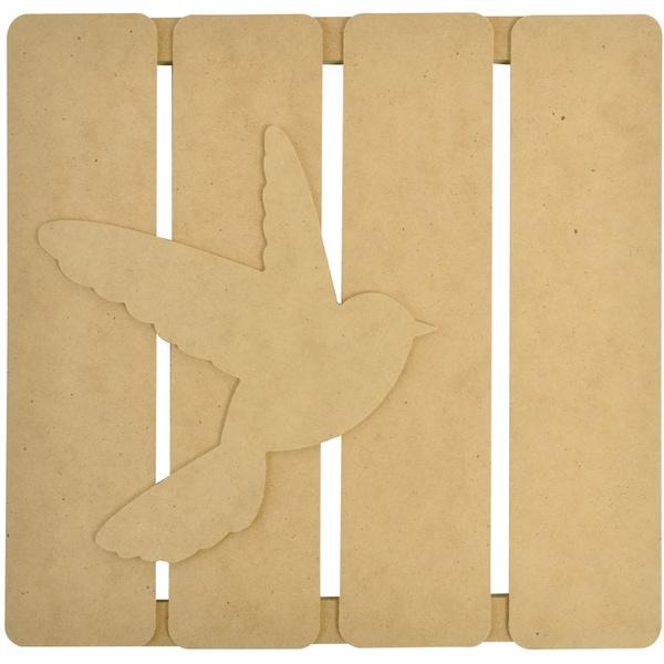 "Beyond The Page MDF Bird 3-D Wall Art-11.5""X11.25""X.5"" (290x285x15mm)"