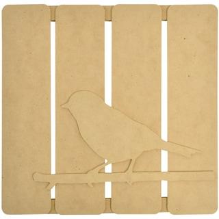 "Beyond The Page MDF Bird On Twig 3-D Wall Art-11.5""X11.25""X.5"" (290x285x15mm)"