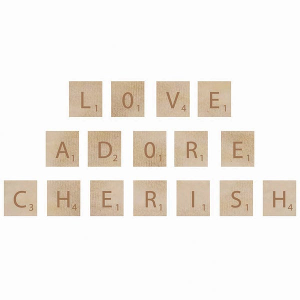 Wooden Letter Words-Adore
