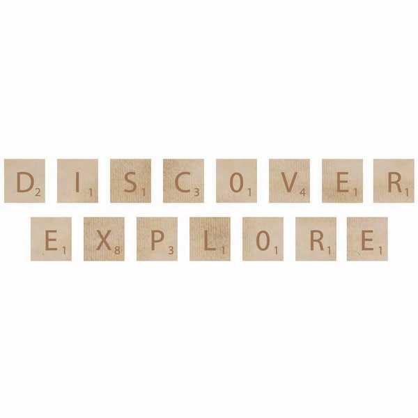Wooden Letter Words-Discover