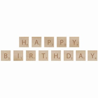 Wooden Letter Words-Birthday
