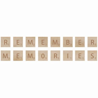 Wooden Letter Words-Remember