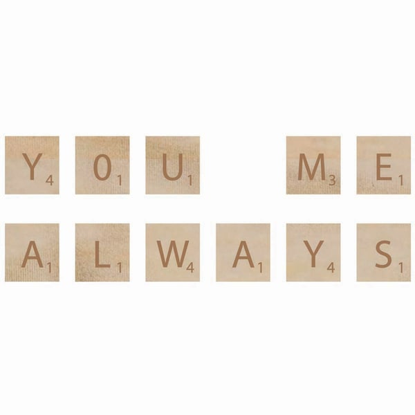 Wooden Letter Words-You & Me