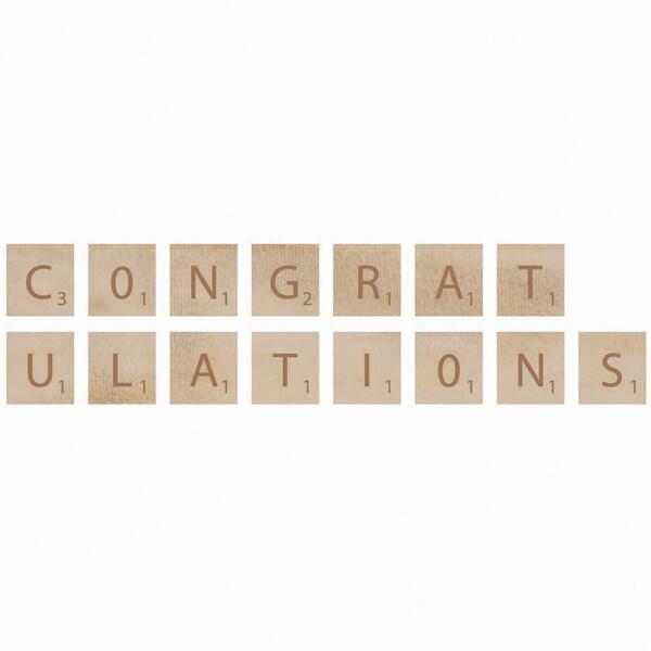 Wooden Letter Words-Congratulations