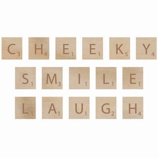 Wooden Letter Words-Cheeky