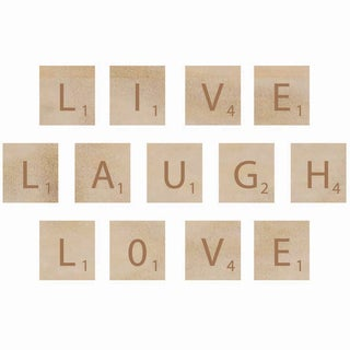 Wooden Letter Words-Laugh