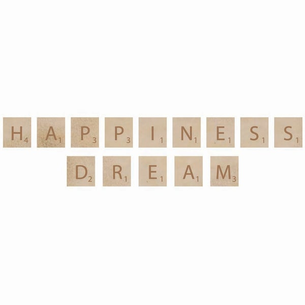 Wooden Letter Words-Happiness