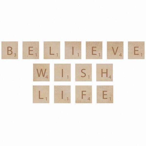 Wooden Letter Words-Believe