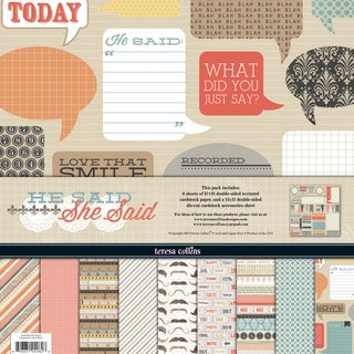 He Said Collection-6 Papers, 1 Die-Cut Accessory Sheet