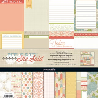 She Said Collection-6 Papers, 1 Die-Cut Accessory Sheet