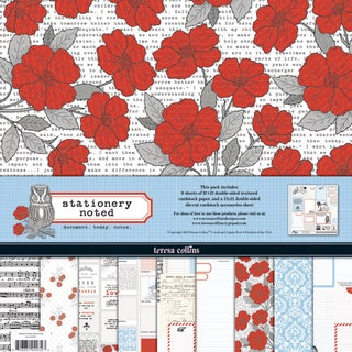 Stationary Noted Collection-9 Papers, 1 Die-Cut Accessory Sheet