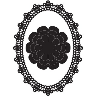 Marianne Designs Craftable Die-Lacey Oval & Flower