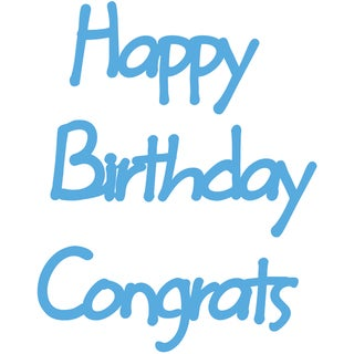 Marianne Designs Creatables Die-Happy Birthday/Congrats