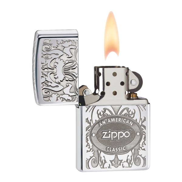Zippo Lighter American Classic High Polish Chrome