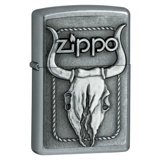 Zippo Bull Skull Emblem Metal Lighter