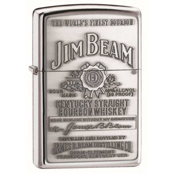 Zippo Lighter Jim Beam Emblem Pewter Lighter