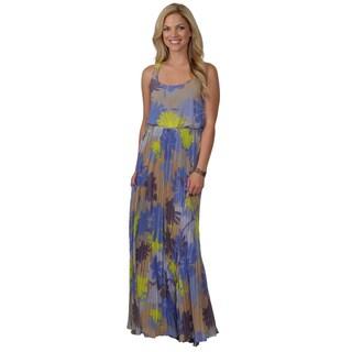 Jessica Simpson Women's Racerback Floral Print Maxi Dress