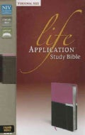 Life Application Study Bible: New International Version, Orchid / Chocolate Italian Duo-Tone, Personal Size (Paperback)