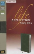 Life Application Study Bible: New International Version: Bark/ Dark Moss Italian Duo-Tone Personal Size (Paperback)