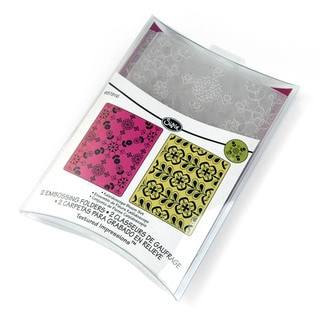 Sizzix 'Kaleidoscope Blooms' by Rachael Bright Embossing Folders (Set of 2)