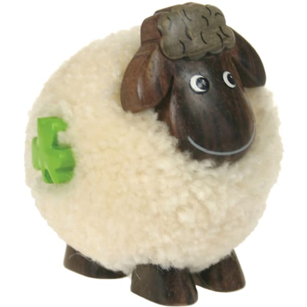 Fluffy Sheep Standing White-