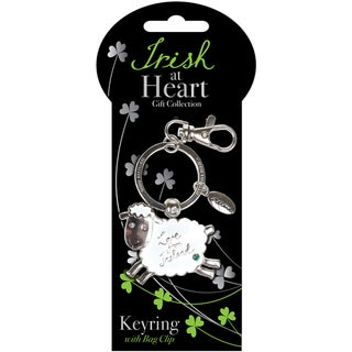 Sheep Irish At Heart Key Ring-