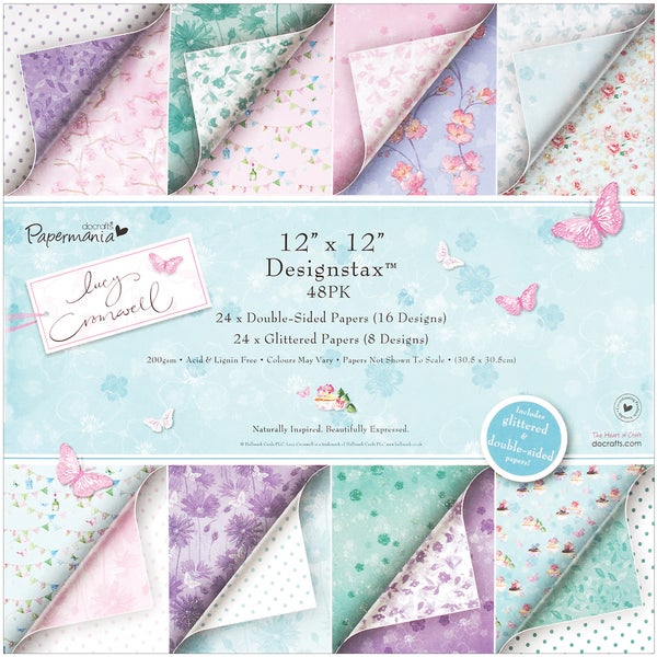 Papermania Lucy Cromwell Designstax Paper Pad 12x12 48/Sheet-