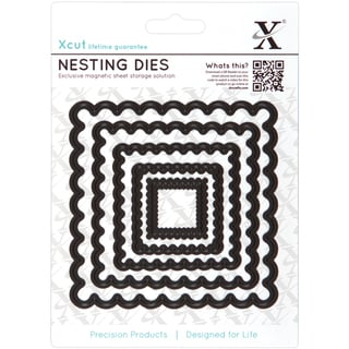 Xcut Nesting Dies-Scalloped Square