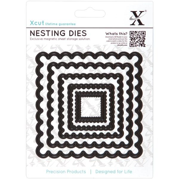 Xcut Nesting Dies-Scalloped Square