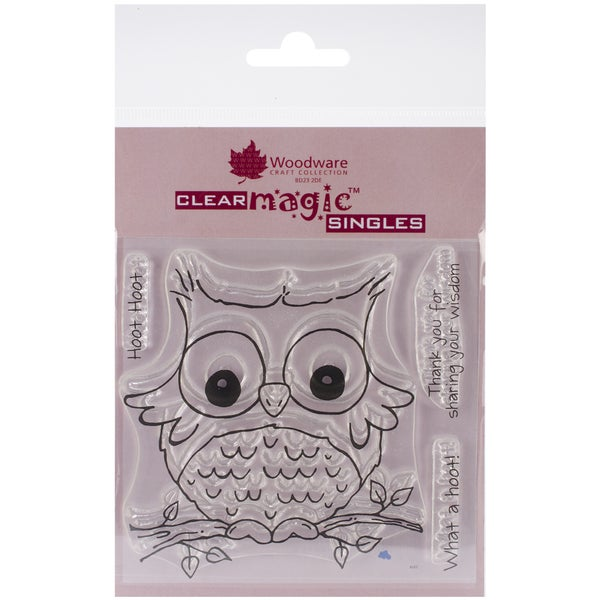 "Woodware Clear Stamps 3.5""x3.5""-What A Hoot"