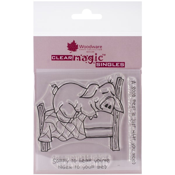 "Woodware Clear Stamps 3.5""x3.5""-Hog Rest"