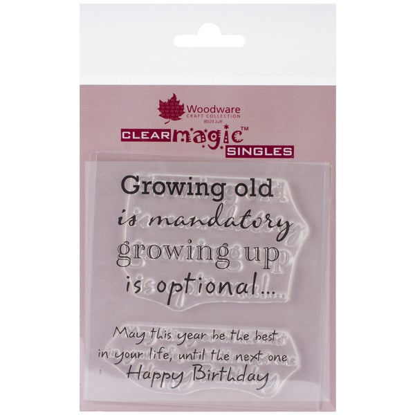 "Woodware Clear Stamps 3.5""x3.5""-Growing Old"