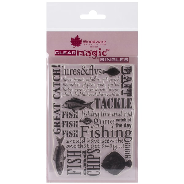 "Woodware Clear Stamps 3.5""X5.5""-Gone Fishing"