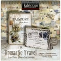 "Romantic Travel Folios & Envelopes Die-Cut Work Book 8""X8""-40 Pages Featuring 16 Different Designs"