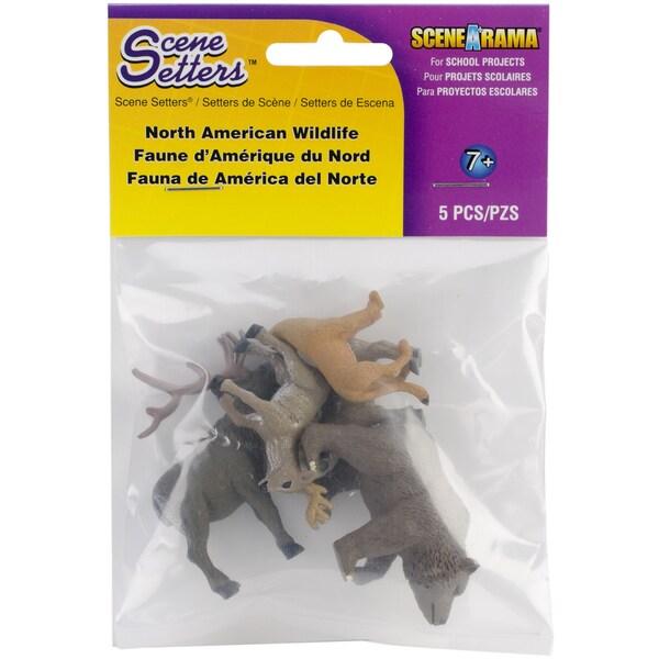 North American Wildlife Figurines (Pack of 5)