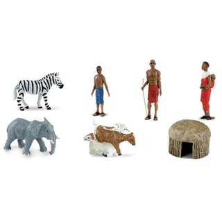 Plastic Miniatures In Toobs-African Village