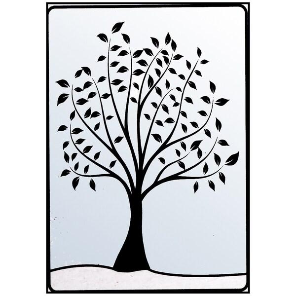 "Crafts-Too Embossing Folder 4""X6""-Leafy Tree"