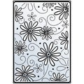 "Crafts-Too Embossing Folder 4""X6""-Daisy & Swirl"