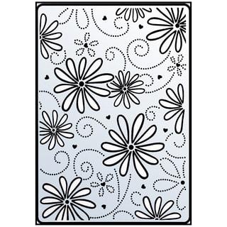"Crafts-Too Embossing Folder 4""X6""-Daisy & Swirl"